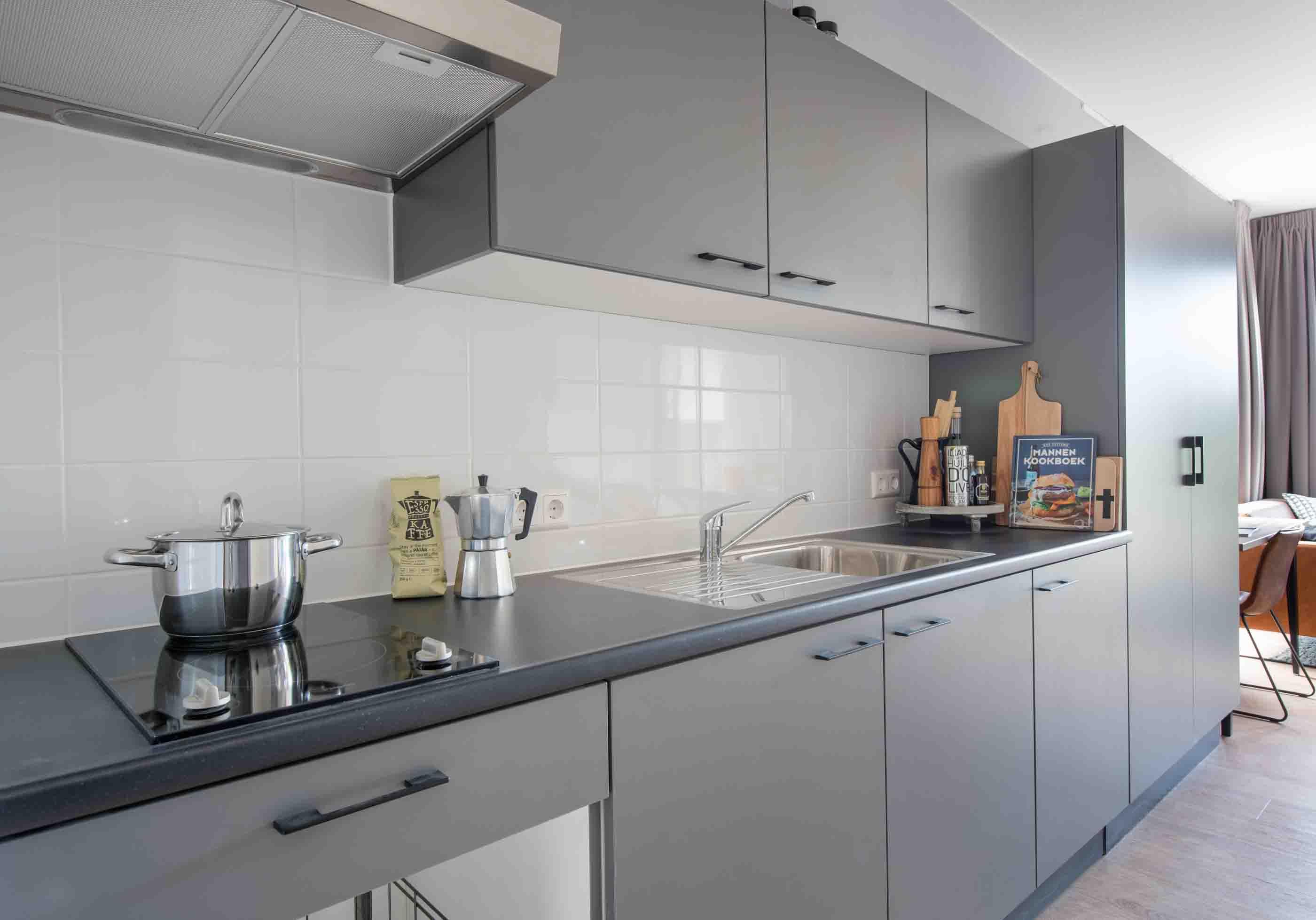 Superior Studio in OurDomain Amsterdam Diemen - kitchen