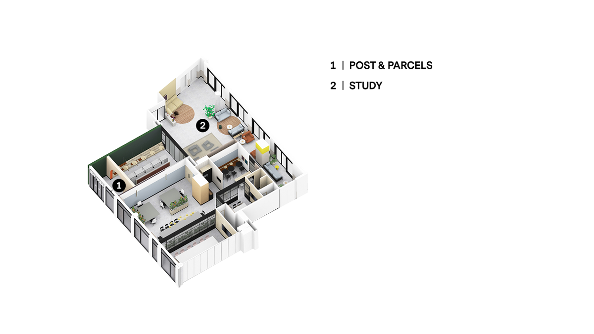 OurDomain Amsterdam Diemen South House ground floor floorplans