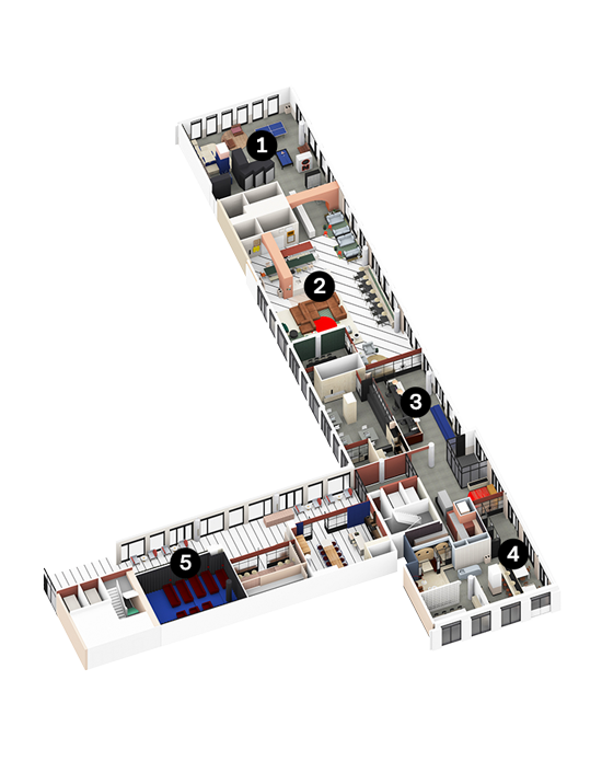 OurDomain Amsterdam Diemen North House ground floor floorplans