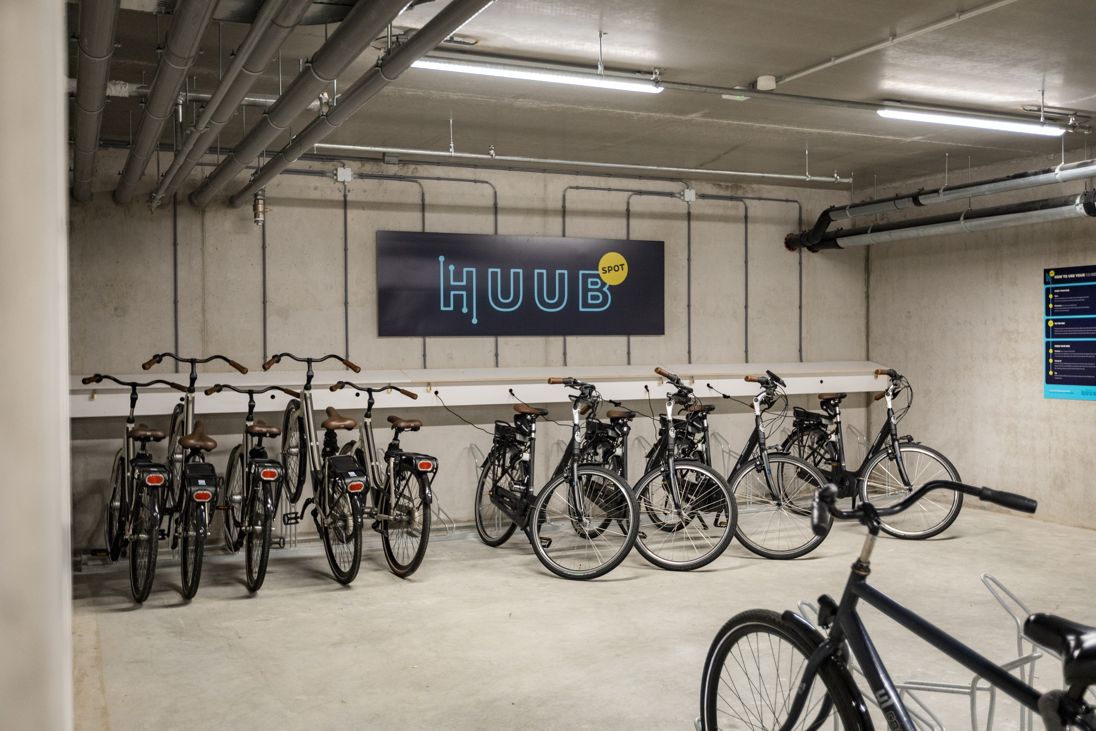 HUUB Bike rental service at OurDomain Amsterdam Diemen