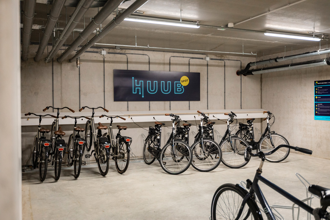HUUB bike rental service at OurDomain