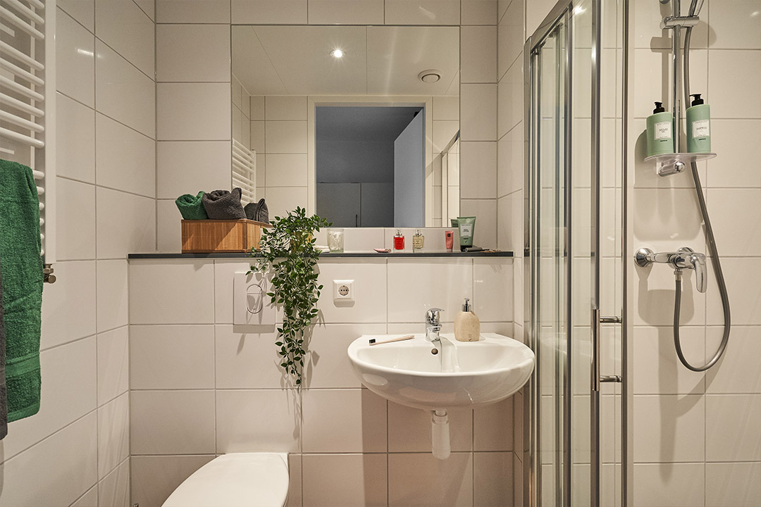 OurDomain Amsterdam South East Executive Studio bathroom