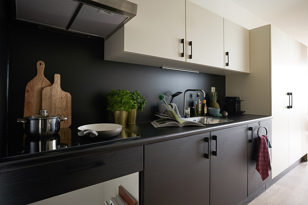 OurDomain Amsterdam South East Executive Plus Studio kitchen detail
