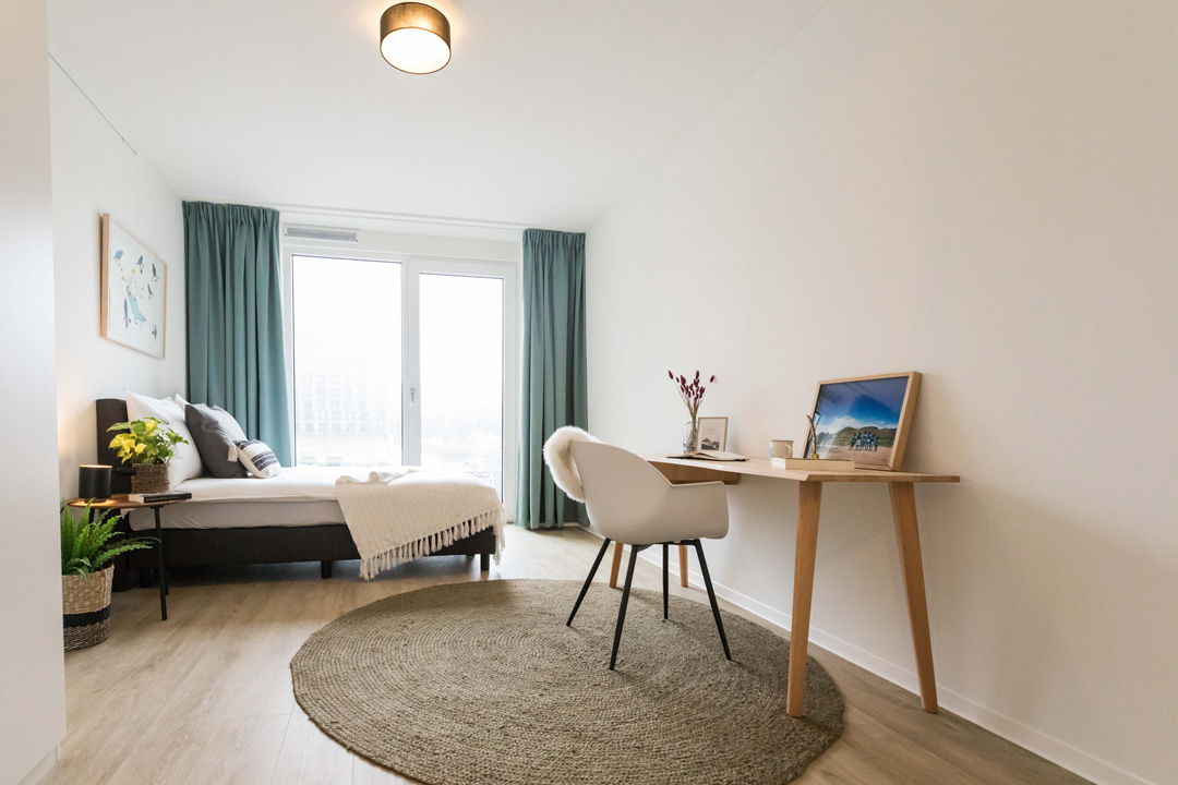 OurDomain Amsterdam South East Homepage: 1 bedroom apartment bedroom in North House