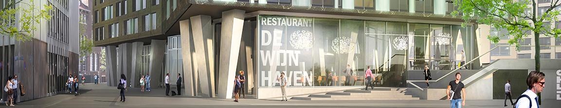 OurDomain Rotterdam Blaak entrance render