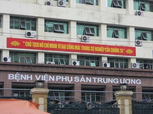 Bệnh viện phụ sản Trung Ương.