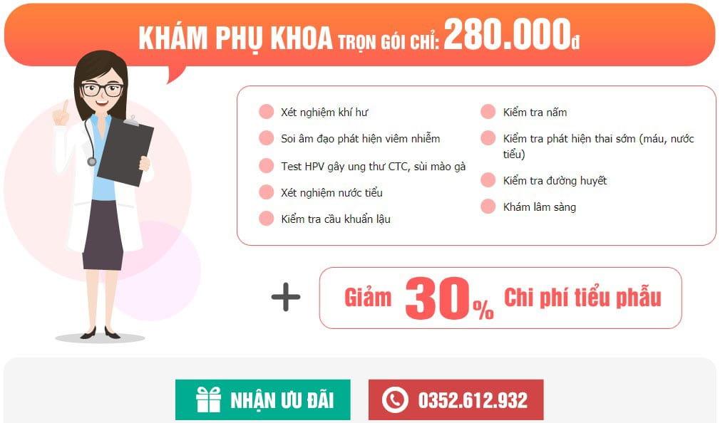 Chi phí chữa viêm lộ tuyến