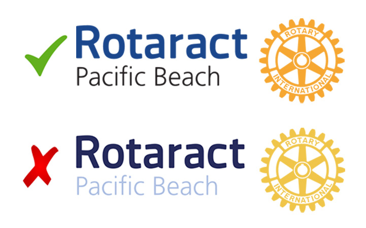 Logo with top two color options