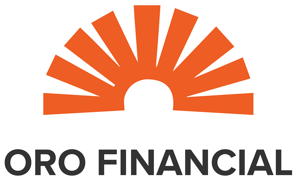 Logo with simple orange sun rays above company name