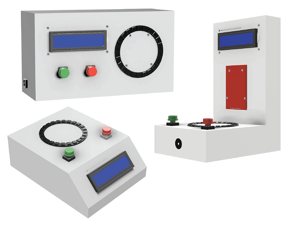 Three 3D CAD Models with different designs