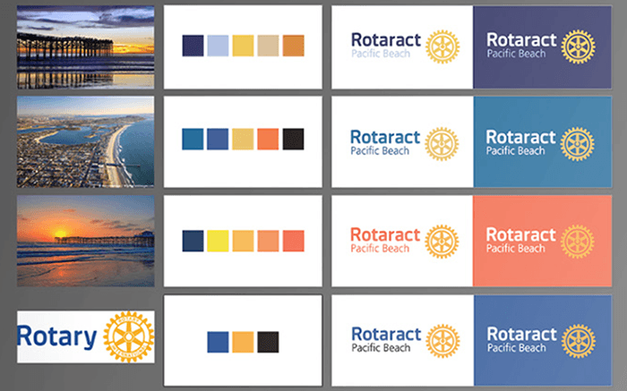 Four Color Schemes for logo