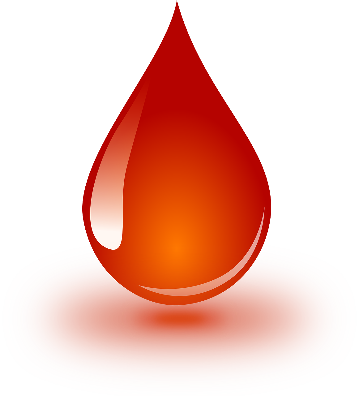 Red blood droplet