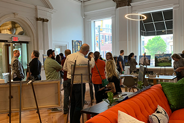 "1908 turned into a ""one-night only"" Gallery for West Chester's Spring Gallery Walk"