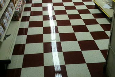 shiny vct floor by a kleener image