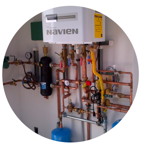 Water heater pipework