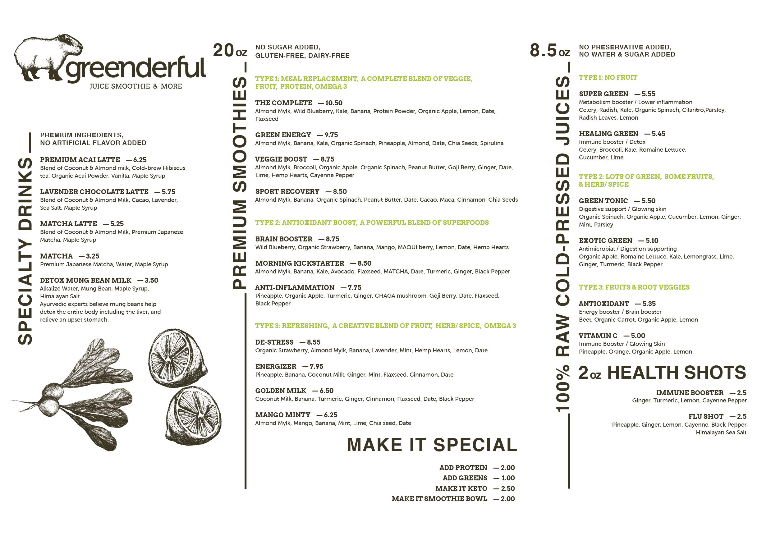 Branding menu design