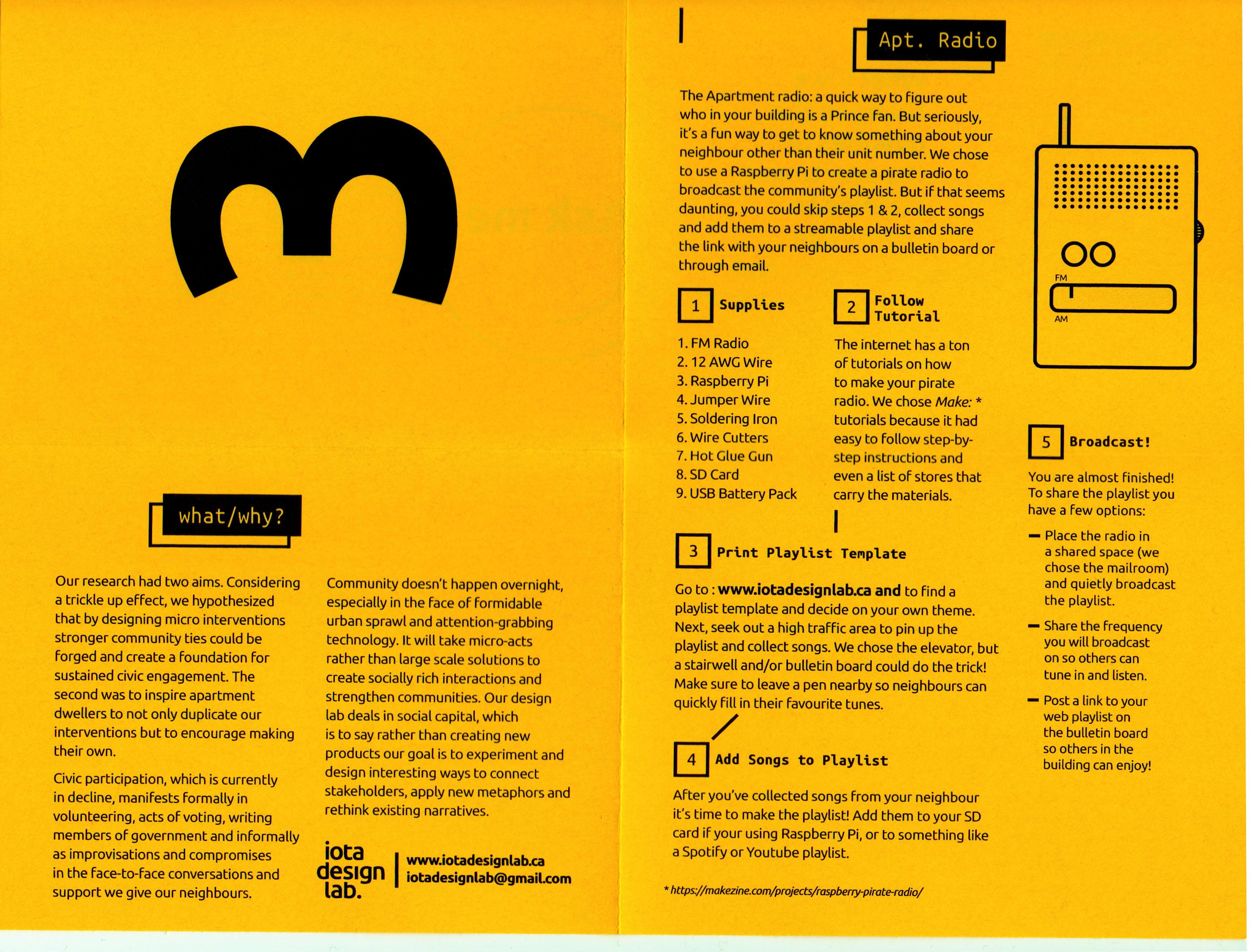 Design Summary, Exhibition take-away