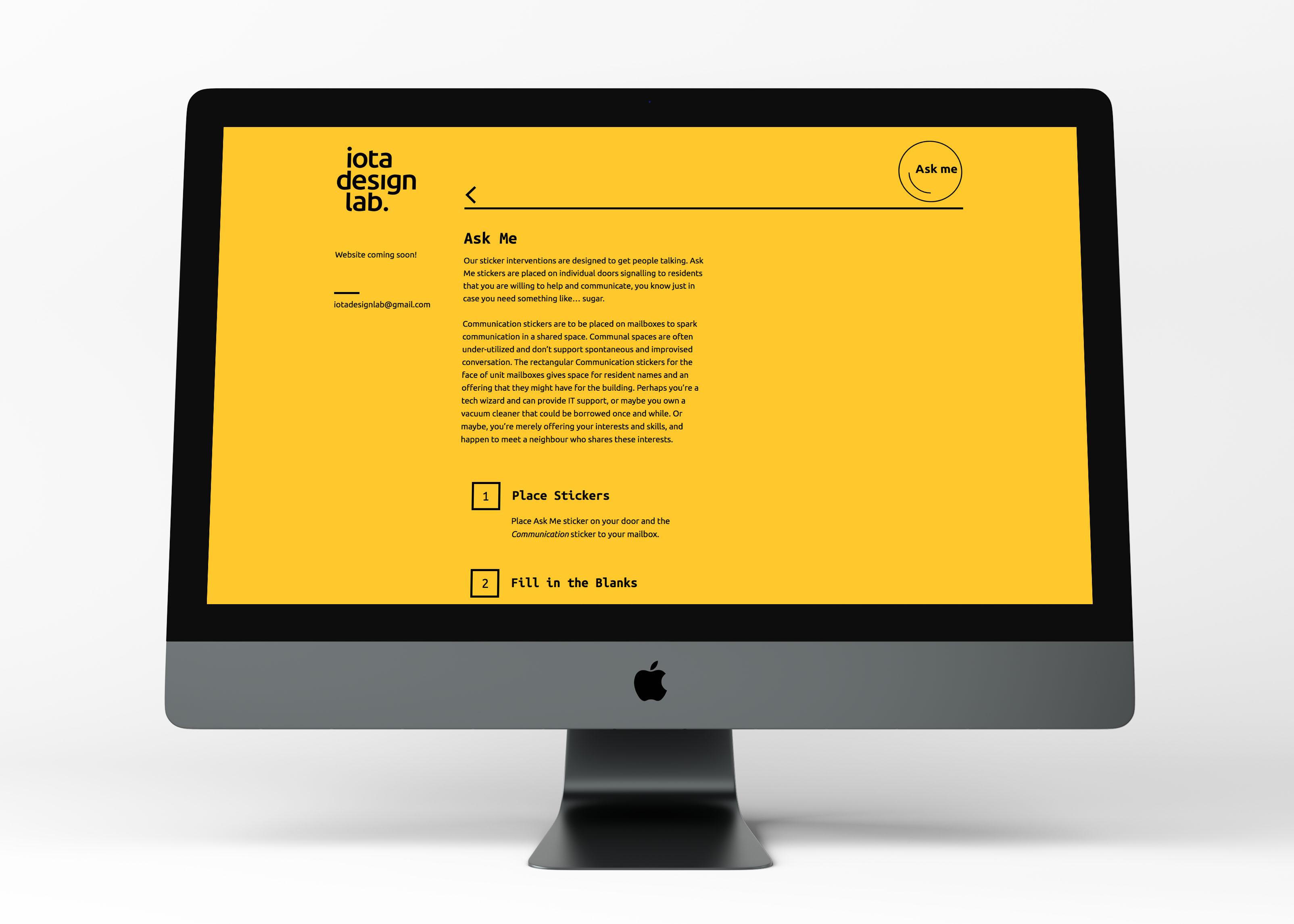 Iota Design Lab Web Design