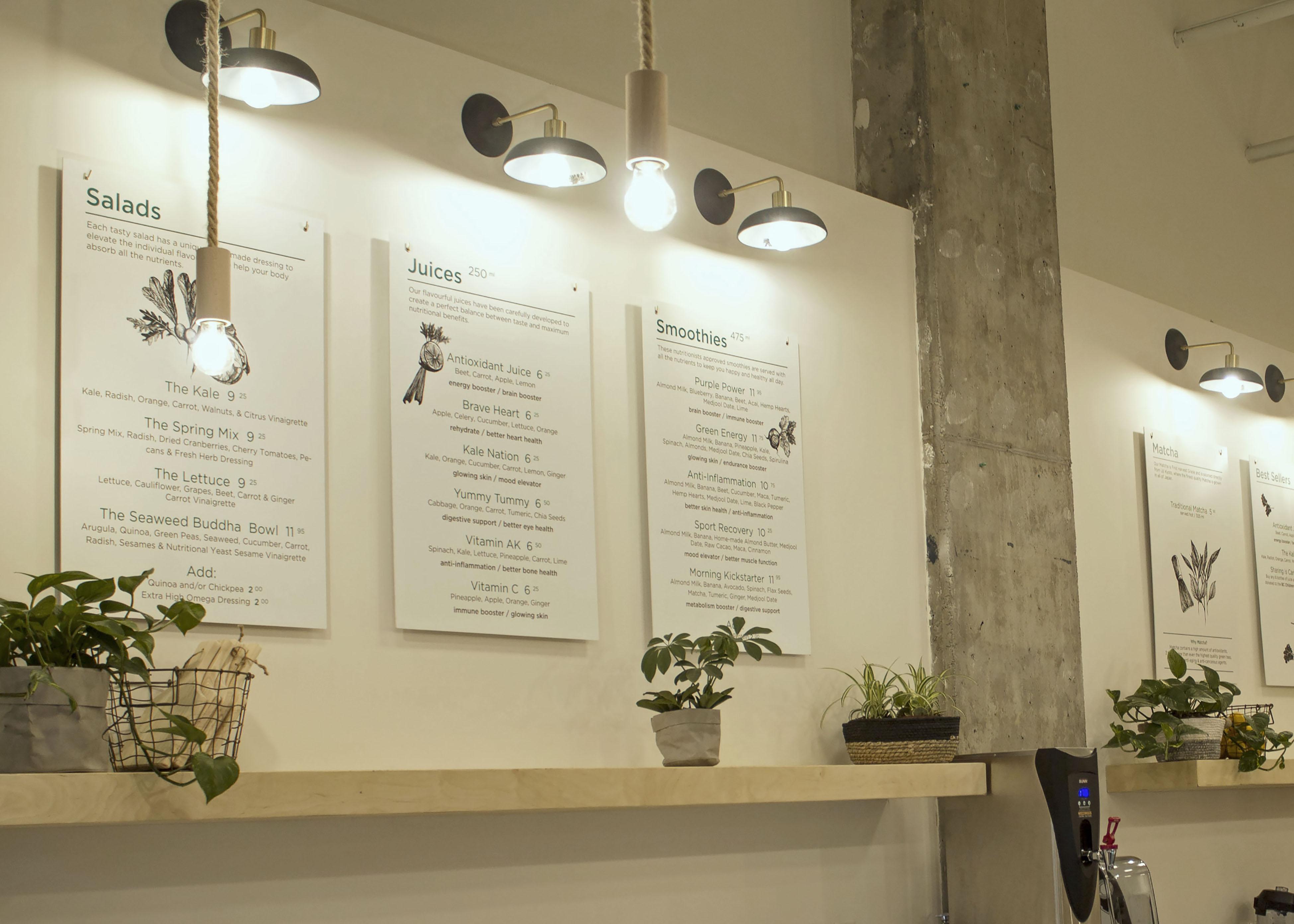 In-store menu design