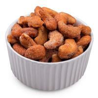 Honey cashews in bowl