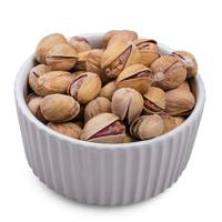 Salted pistachios in bowl