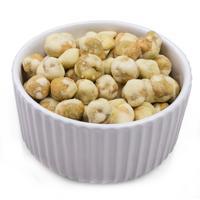 Wasabi peas in bowl