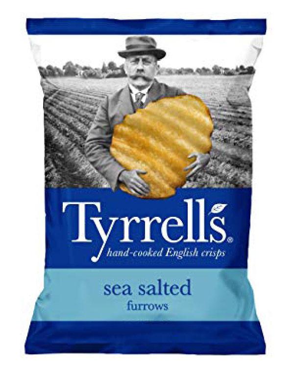 Bag of Tyrell's Crisps Furrows Sea Salted