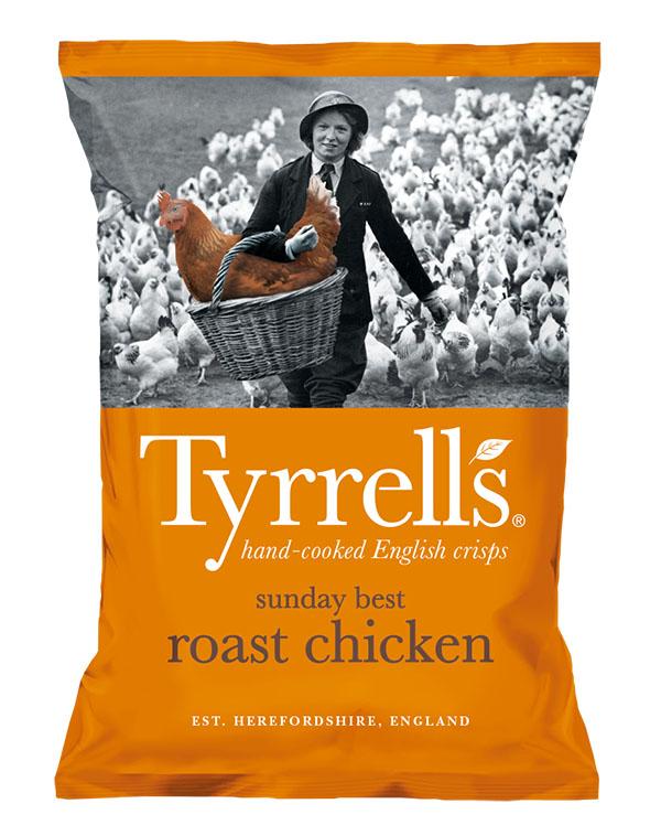 Bag of Tyrell's Crisps Sunday Best Roast Chicken