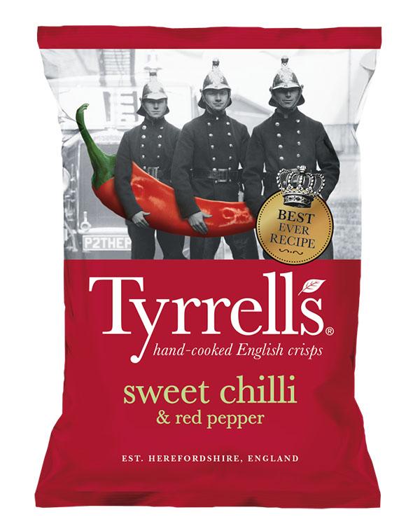 Bag of Tyrell's Crisps Sweet Chilli & Red Pepper