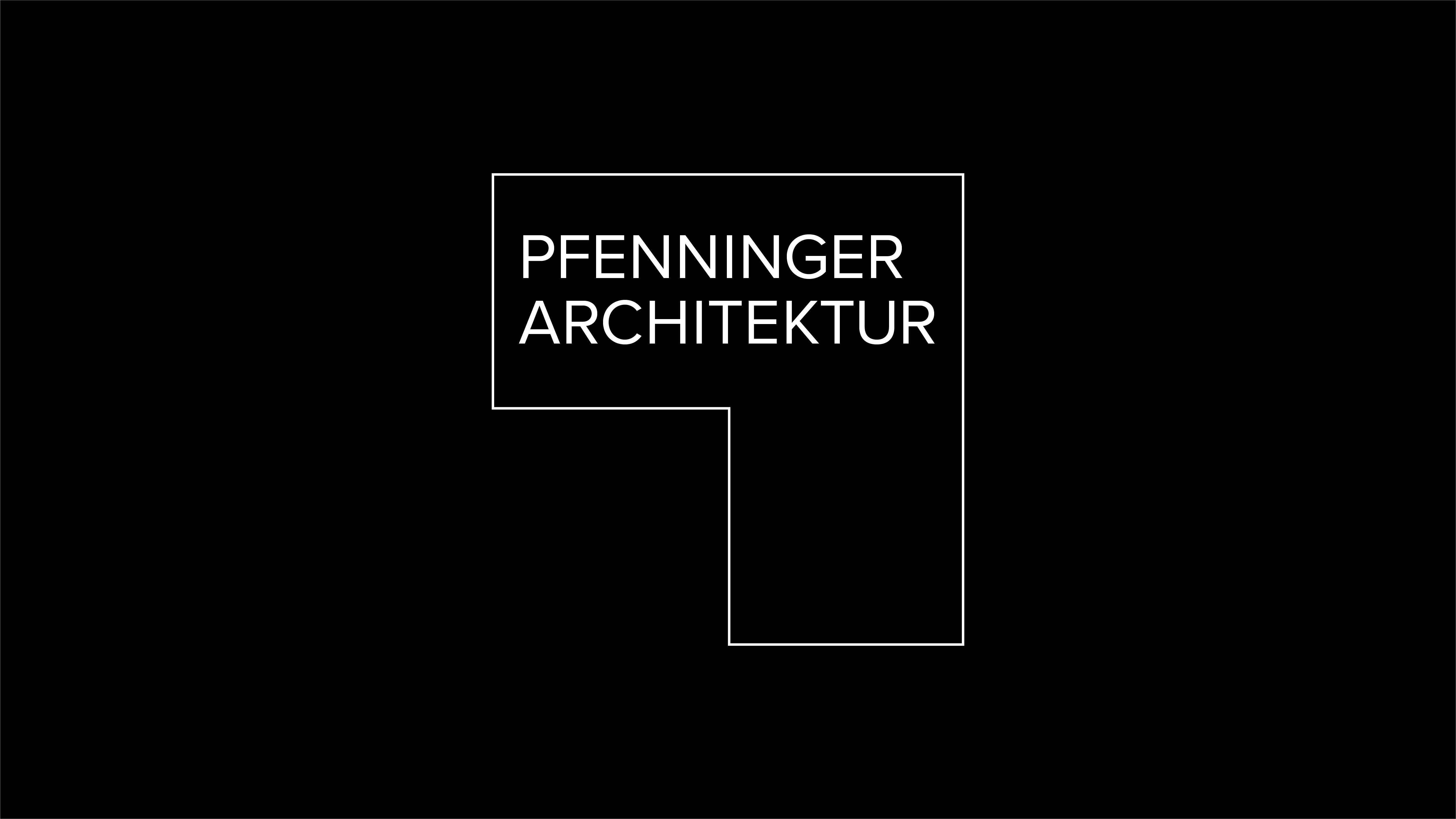 Pfenninger Architektur Logo, Brand Design, Logo Design, Michael Frei, Zurich, Switzerland.