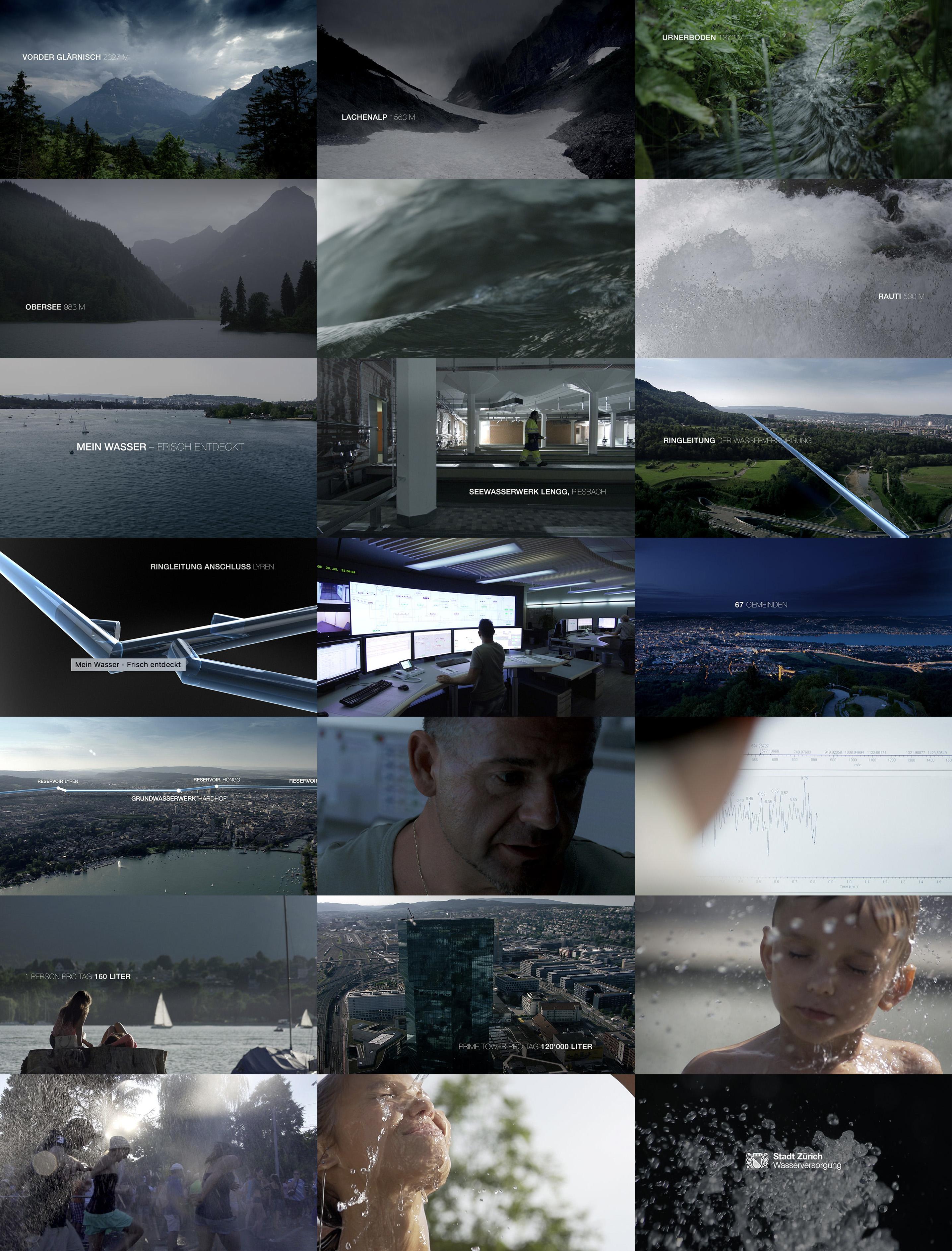 Mein Wasser - Frisch entdeckt, Concept Development, Film Editing, Title Design, Grading, Art Direction, Michael Frei Zurich