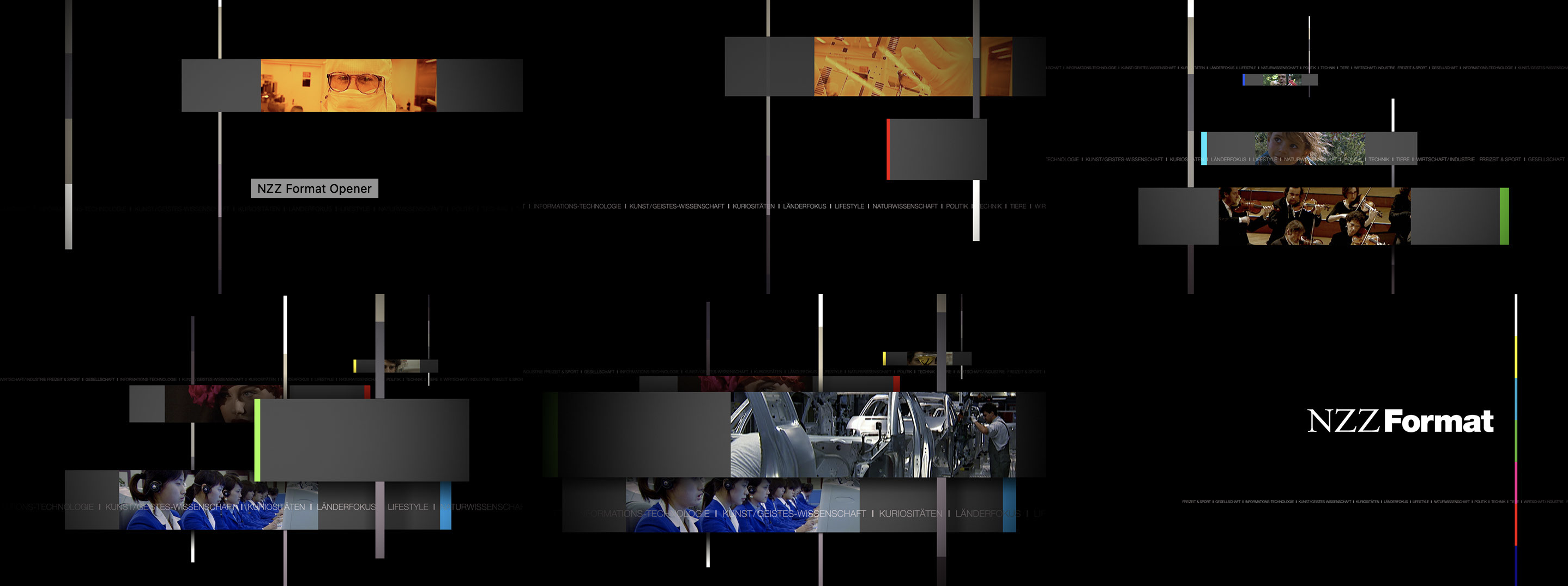 NZZ Format, NZZ Swiss Made, On Air Design, Creative Concept, Film Editing, Motion Design, Motion Graphics, Michael Frei, Zurich, Switzerland.
