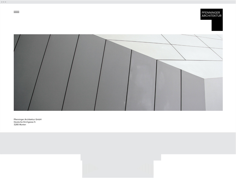 Pfenninger Architektur, Logo, Branding, Web Design, iOS, Michael Frei