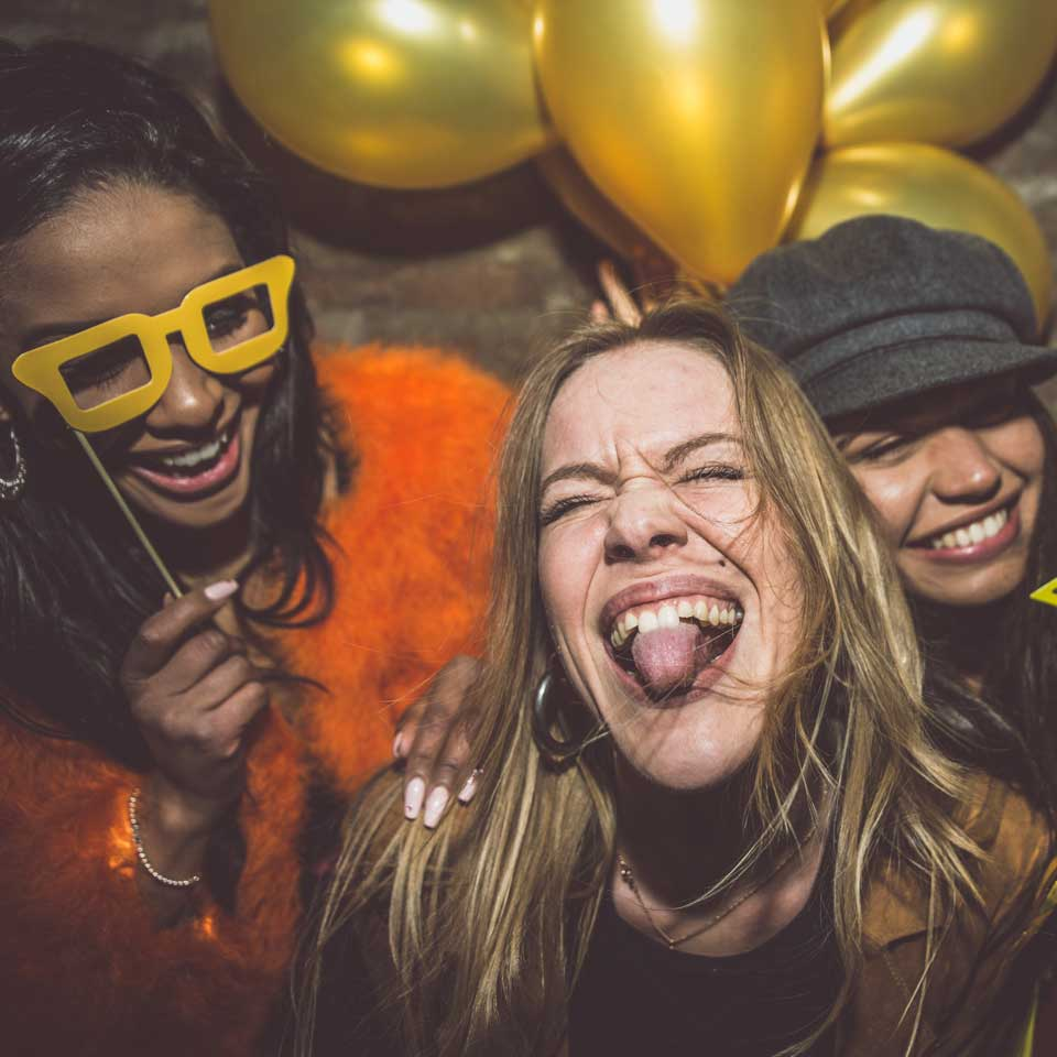 young women having fun at a party