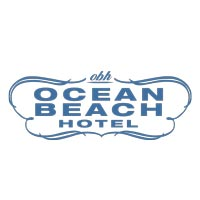 a logo of ocean beach hotel