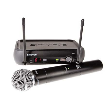 a microphone used for speeches at a wedding