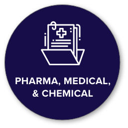 pharmaceutical, medical, and chemical icon