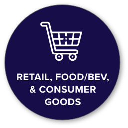 retail, food/beverage, and consumer goods icon