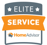 We have been awarded for Elite Service with HomeAdvisor