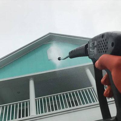 Pressure washing house in Jacksonville, FL