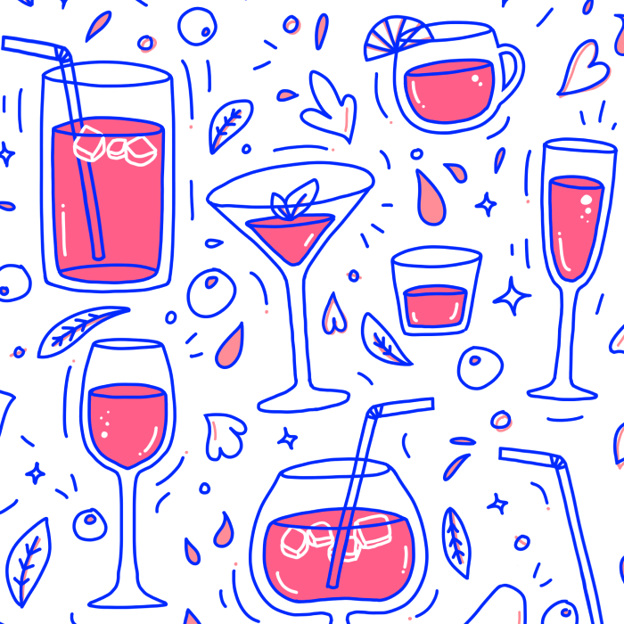 Drinks and cocktails