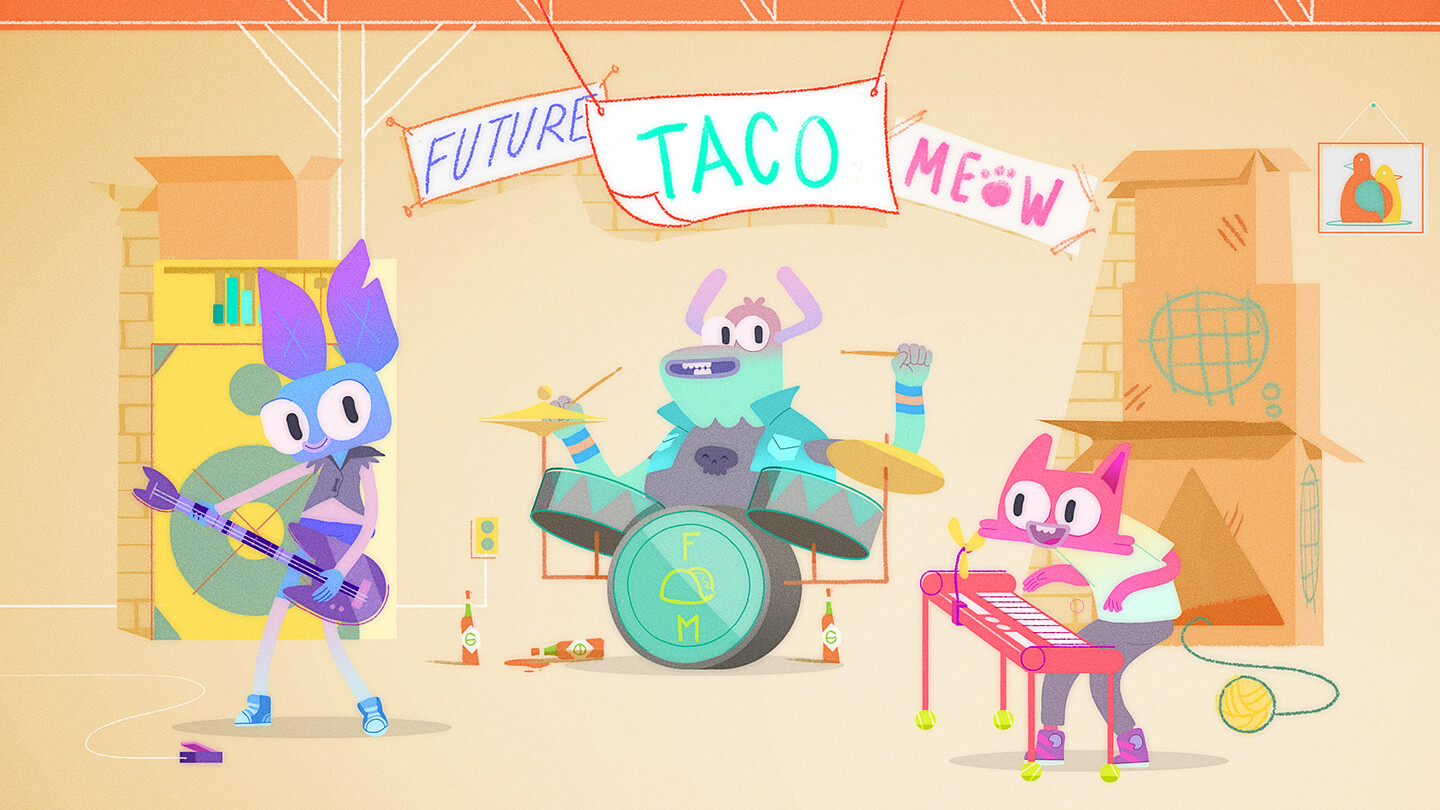 Disney animated short film Future! Taco! Meow!