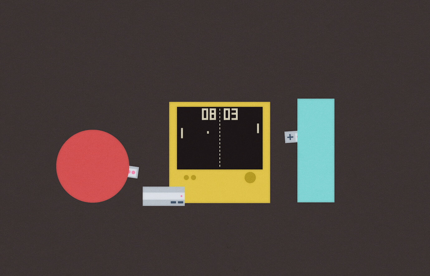 Series of short animations about a circle and rectangle for Blind's core values