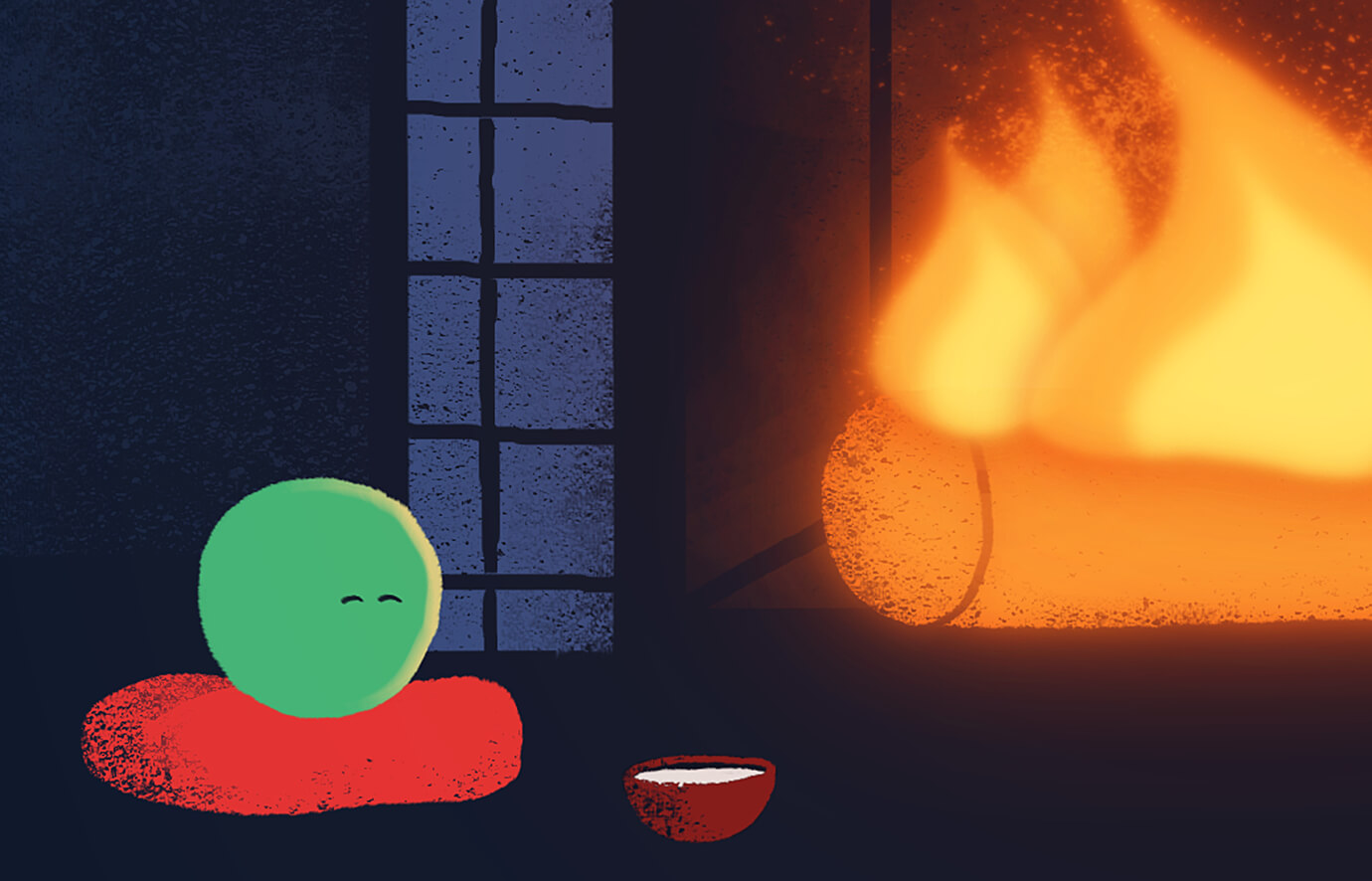 Yule Log of Love animation loop