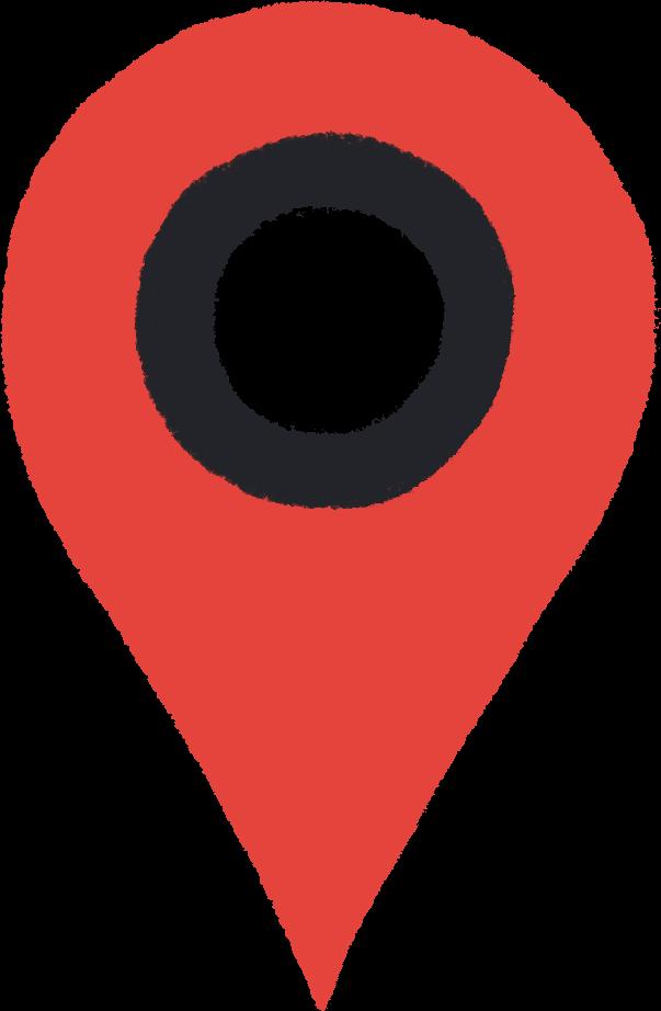 Greg Gunn headquarters address map pin illustration