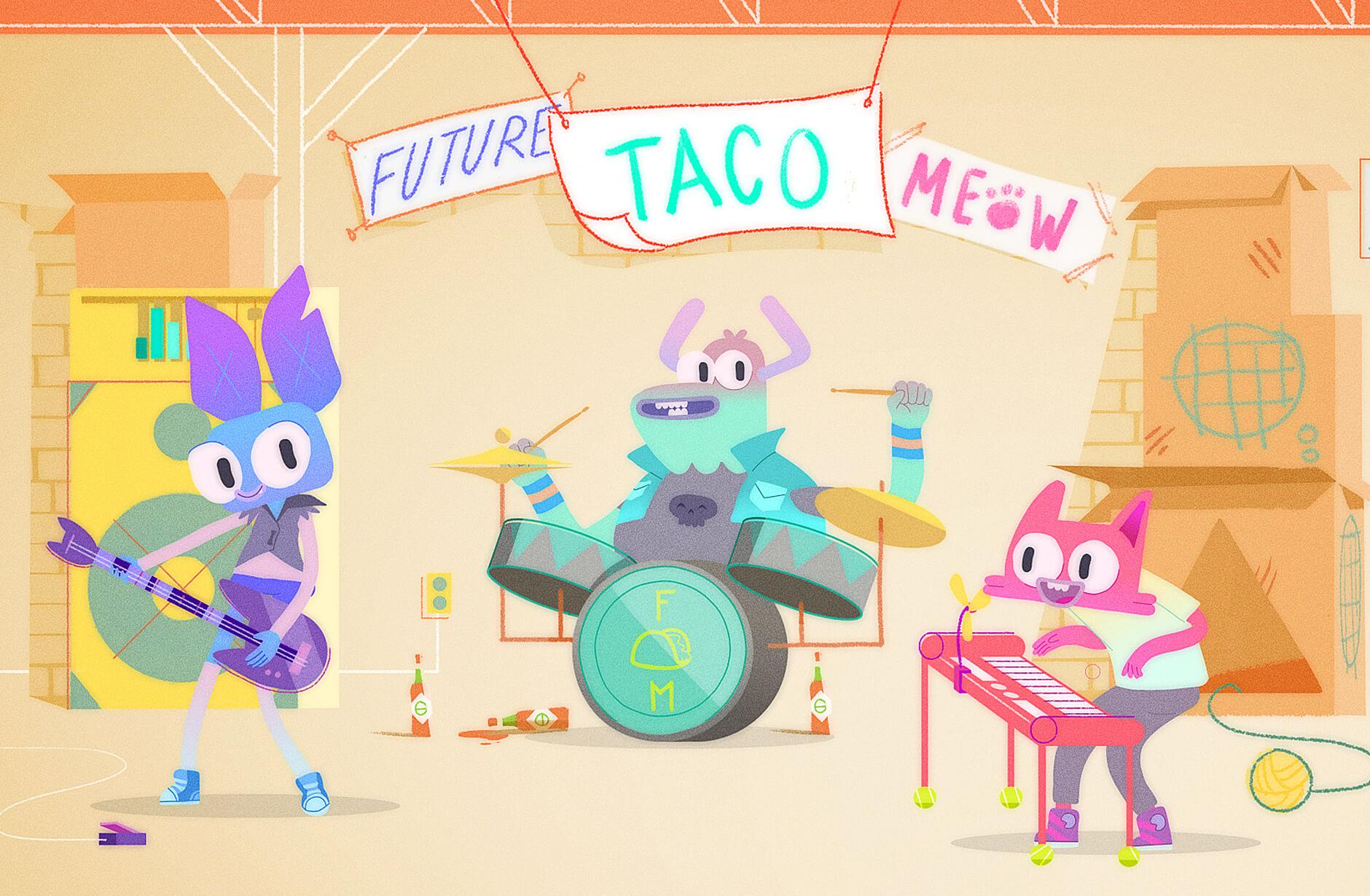 Disney animated short film Future! Taco! Meow!