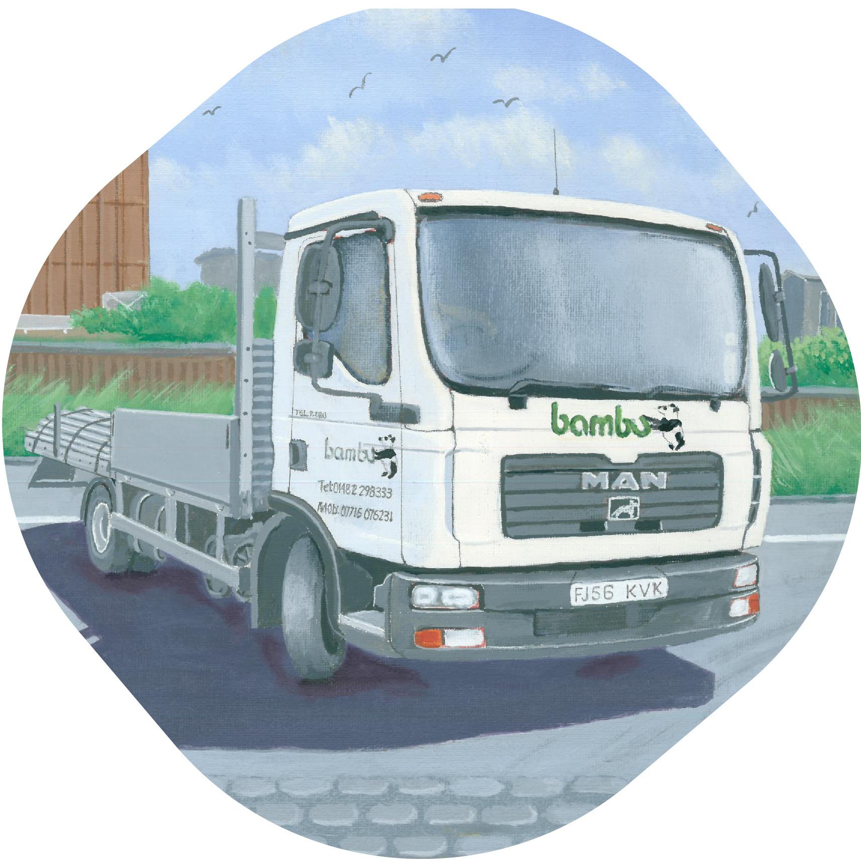 Bambu truck painting