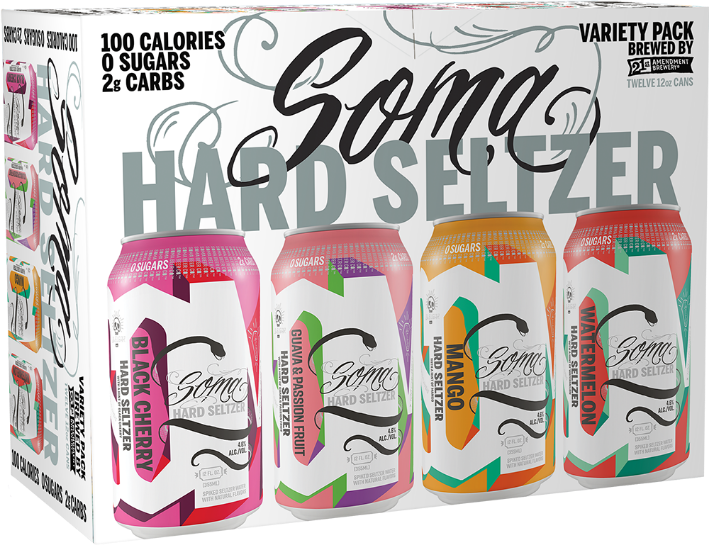 Variety 12 Pack of SOMA Hard Seltzer by 21st Amendment Brewery
