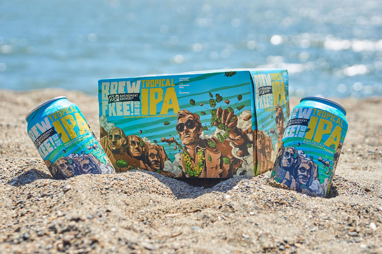 Brew Free! or Die Tropical IPA - Tropical Island Flavor