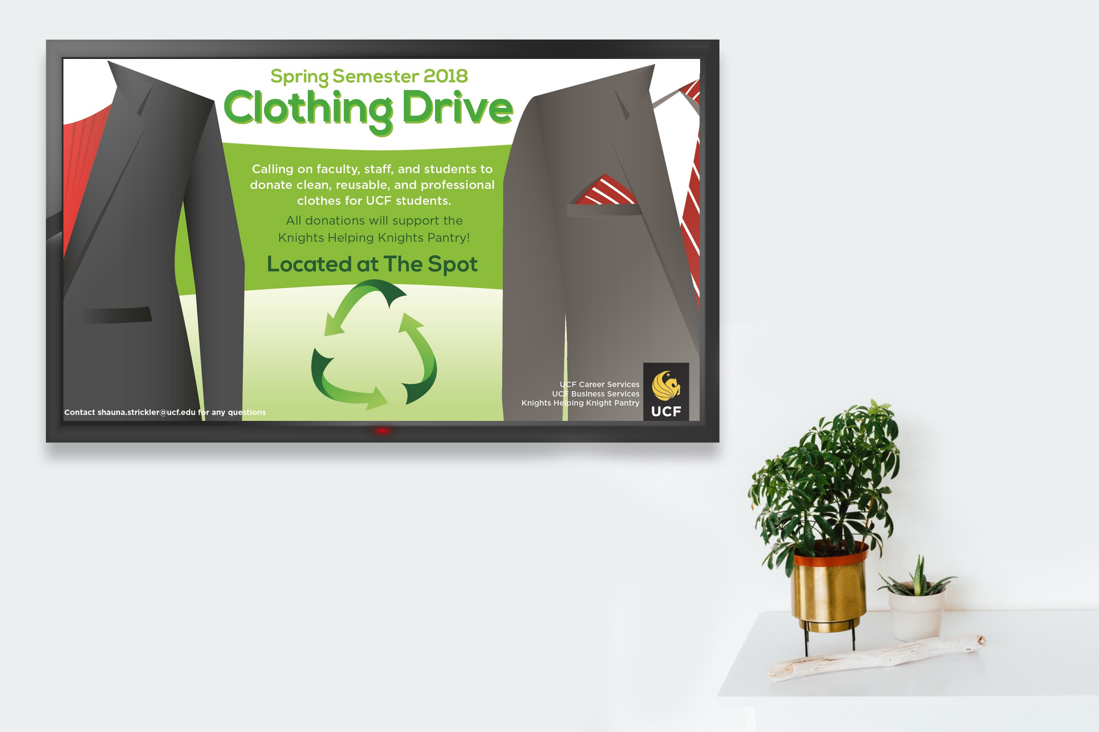 ucf clothing drive tv